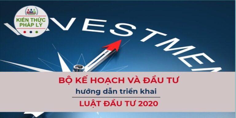 HƯỚNG DẪN TRIỂN KHAI LUẬT ĐẦU TƯ 2020